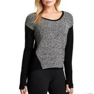 Athleta Brindle Crew Wool Blend Sweater Black